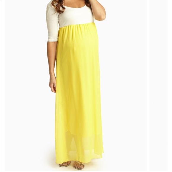 17488652463d2 Pink Blush Dresses | Chiffon Colorblock Maternity Dress | Poshmark